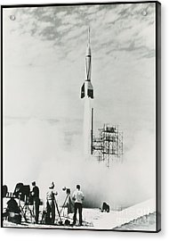 First Cape Canaveral Rocket Launch Acrylic Print by NASA Science Source