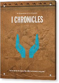 First Chronicles Books Of The Bible Series Old Testament Minimal Poster Art Number 13 Acrylic Print