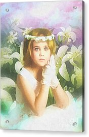 First Communion Acrylic Print by Mo T