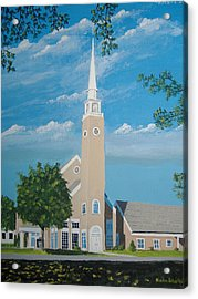 First Congregational Church Acrylic Print by Norm Starks