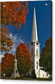 First Congregational Church Of Manchester Acrylic Print