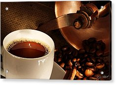 First Cup Of The Day Acrylic Print by Cole Black