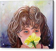 First Daffodil Acrylic Print
