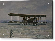 Acrylic Print featuring the painting First England-australia Flight 1919 by Murray McLeod