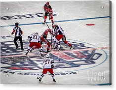 First Faceoff Acrylic Print