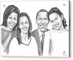 First-family 2013 Acrylic Print by Murphy Elliott