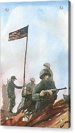 First Flag Over Iwo Jima Acrylic Print