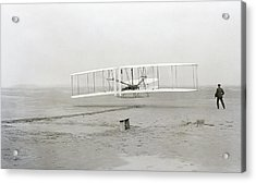 First Flight Captured On Glass Negative - 1903 Acrylic Print by Daniel Hagerman