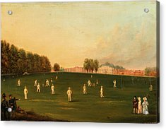 First Grand Match Of Cricket Played By Members Of The Royal Acrylic Print by Litz Collection