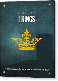 First Kings Books Of The Bible Series Old Testament Minimal Poster Art Number 11 Acrylic Print by Design Turnpike