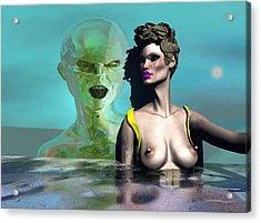 First Kiss 500 Acrylic Print by Stephen Donoho