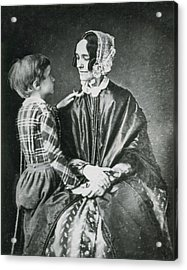 First Lady Jane Pierce With Son Benjamin Acrylic Print by Science Source