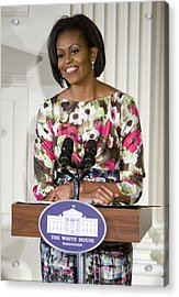 First Lady Michelle Obama Acrylic Print by JP Tripp