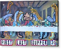 First Last Supper Acrylic Print by Lisa Piper