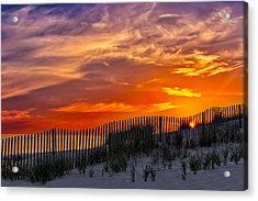 First Light At Cape Cod Beach  Acrylic Print by Susan Candelario