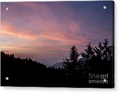 First Light At Newfound Gap Acrylic Print by Ricky Smith