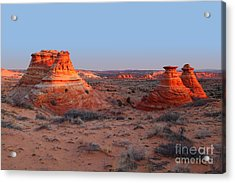 First Light At Teepees Acrylic Print