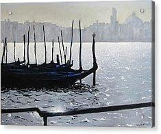 First Light Dorsoduro Acrylic Print by Martin Davis