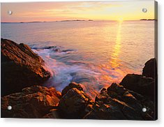 First Light Marblehead Acrylic Print by Michael Hubley