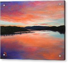 Acrylic Print featuring the painting Arkansas River Sunrise by Glenn Beasley