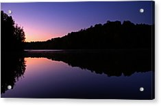 First Light On Shanty Hollow Acrylic Print by Keith Bridgman