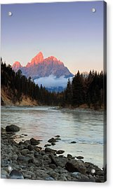 First Light On The Grand Teton Acrylic Print
