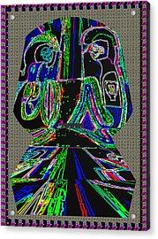 First Love Ghost Talk On The Tomb Stone  Neon Light Art By Navin Joshi Acrylic Print by Navin Joshi