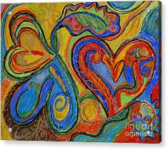 First Love Acrylic Print by Kelly Athena