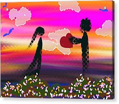 First Love Acrylic Print by Lady Ex