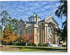 First Methodist Church Acrylic Print by Kathy Baccari
