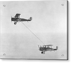 First Mid-air Refuelling, 1923 Acrylic Print