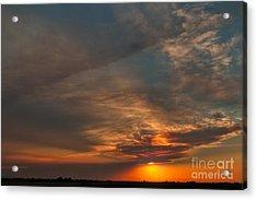 First Montana Sunset Acrylic Print by Charles Kozierok