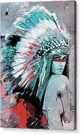First Nations 005 C Acrylic Print by Corporate Art Task Force