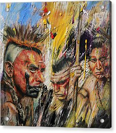 First Nations 15 Acrylic Print by Corporate Art Task Force