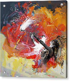First Nations 18b Acrylic Print by Corporate Art Task Force