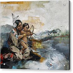 First Nations 19 Acrylic Print by Corporate Art Task Force