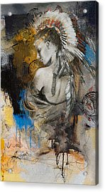 First Nations 8b Acrylic Print by Corporate Art Task Force