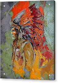 First Nations 9 B Acrylic Print by Corporate Art Task Force