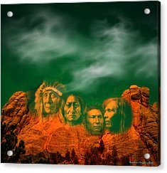 First Nations Chiefs In Mount Rushmore Acrylic Print