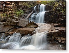 First October Morning Light On Shawnee Falls Acrylic Print