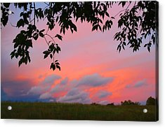 Acrylic Print featuring the photograph First October Sunset by Kathryn Meyer