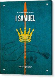First Samuel Books Of The Bible Series Old Testament Minimal Poster Art Number 9 Acrylic Print