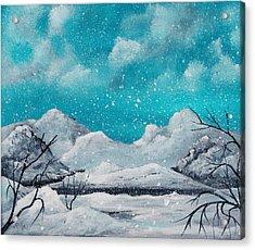 First Snow Acrylic Print by Anastasiya Malakhova