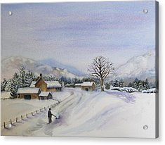 First Snow Acrylic Print by Jan Cipolla