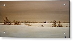 First Snow Acrylic Print by William Renzulli