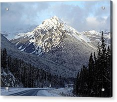 First Snowfall Acrylic Print by George Cousins