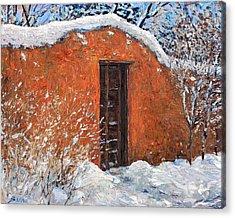 First Snowfall Acrylic Print by Steven Boone