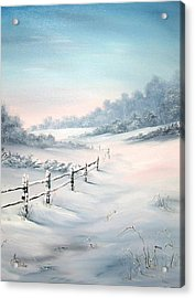 Acrylic Print featuring the painting First Snows by Jean Walker