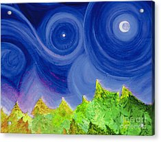 Acrylic Print featuring the painting First Star By  Jrr by First Star Art
