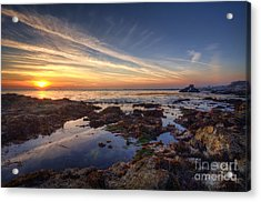 First Sunset Of 2014 Acrylic Print by Eddie Yerkish